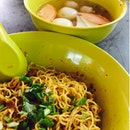 Fish Ball Minced Meat Noodles With Razor Clams