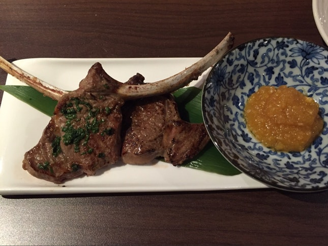 Lamb Chop With Pineapple Miso Sauce
