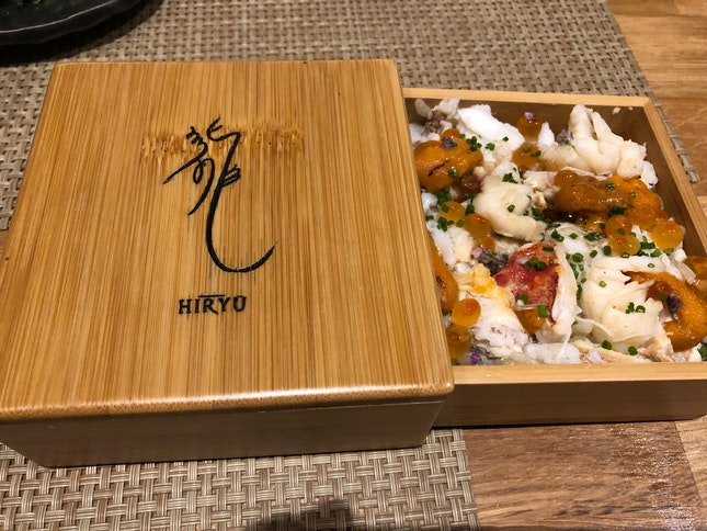 Lobster And Uni Rice In A Box