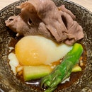 Wagyu Beef With Onsen Tamago.