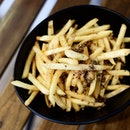Mushroom infused salted truffle fries, S$10.90.