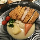 #Delicious #Iberico #Pork #Katsu #set with #truffle #chawanmushi and #clam #soup for SGD 19.80.