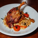 Duck Leg Confit with Cannellini & Cherry Tomatoes