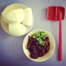 Braised Beef with Buns for lunch this sweltering Saturday.
