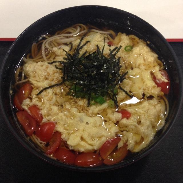 Tomato Egg Soba Noodles