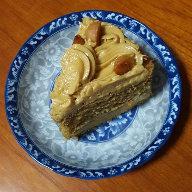 Salted Caramel Macadamia Layer Cake
