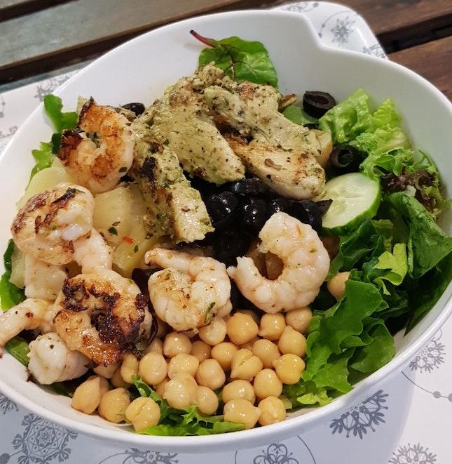 Prawn And Grilled Chicken Breast Salad