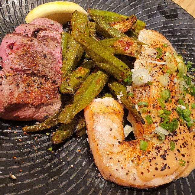 Salmon And Oyster Blade Steak