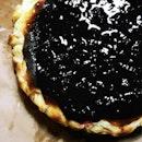 Jam Drop Burnt Cheesecake