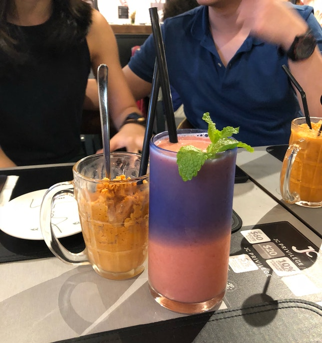 Thai Tea Granita & Pink Journey