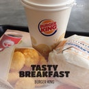 Having Croissant Turkey & ham #breakfast meal.