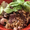 Having #MincedMeatNoodle from #SomersetMincedMeatNoodle stall as my #dinner #burpple