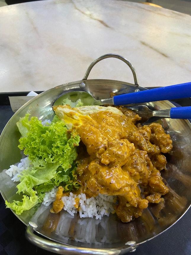 Sambal Salted Egg Chicken Rice (Mini Wok)