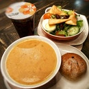 Tangy Tomato Basil Soup & Garden Green Salad