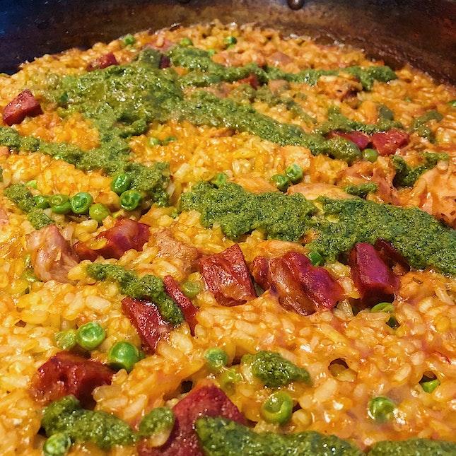 Paella Chorizo ($26).