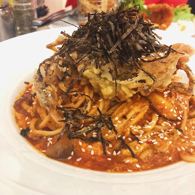 Chili Crab Pasta ($22).