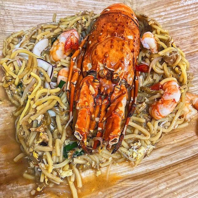 Lobster Fried Hokkien Mee.
