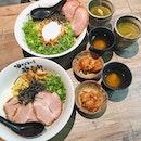 Original mazesoba with char siew, Taiwan mazesoba Nagoya style with char siew Burpple Set ($32++).