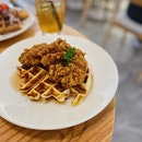 Fried Chicken & Waffles ($19).