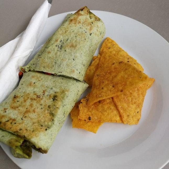 Tandoori Chicken Basil Wrap