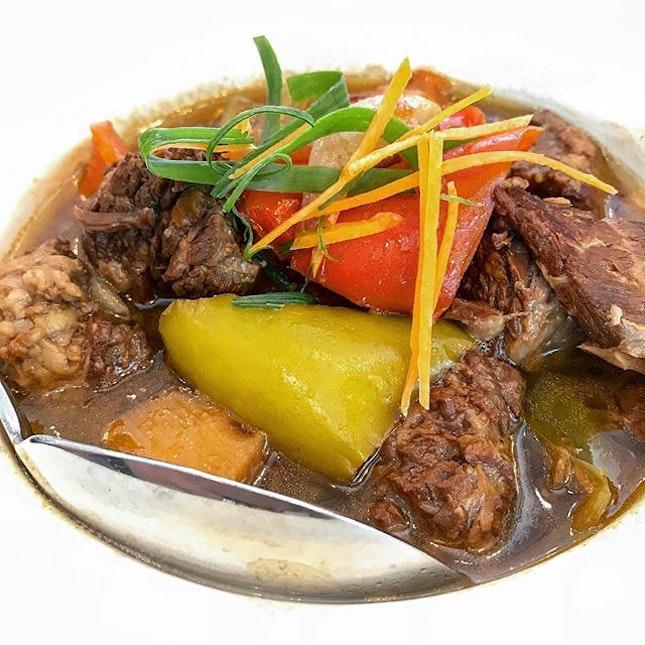Hainanese beef stew...so old school, so good.
