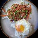 Favouritest pad krapow moo from favouritest Thai restaurant.