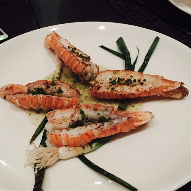 Scottish Langoustines, Burnt Leeks, Seaweed Butter ($42 supplement)