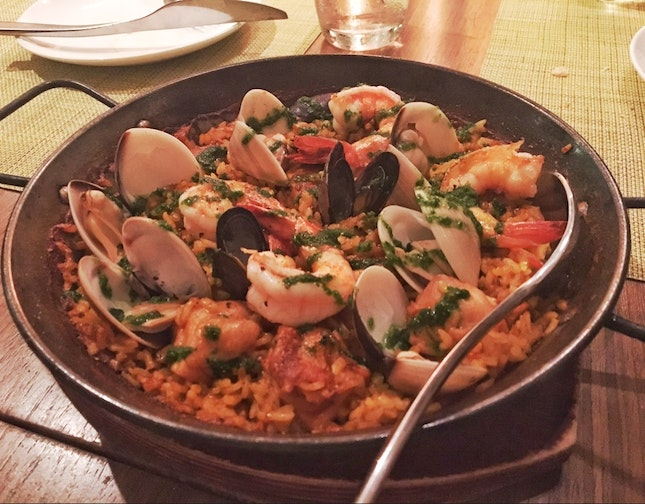 Seafood and Chicken Paella