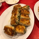 Panfried Pork and Seafood Dumplings