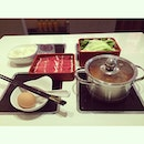#hotpot #steamboat #mala #spicy #beef #eggs #vegetable #sichuan #whitagram #chinesefood #chinese #food #dinner #singapore