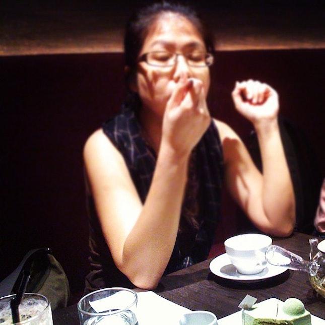 #tea #cake #singapore #yummy
