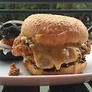 The Quarters Salted Egg Chicken Burger