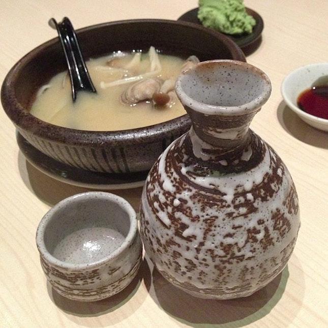 It's sake night #japanese #sake #sundaynight #night #dinner #foodporn #food
