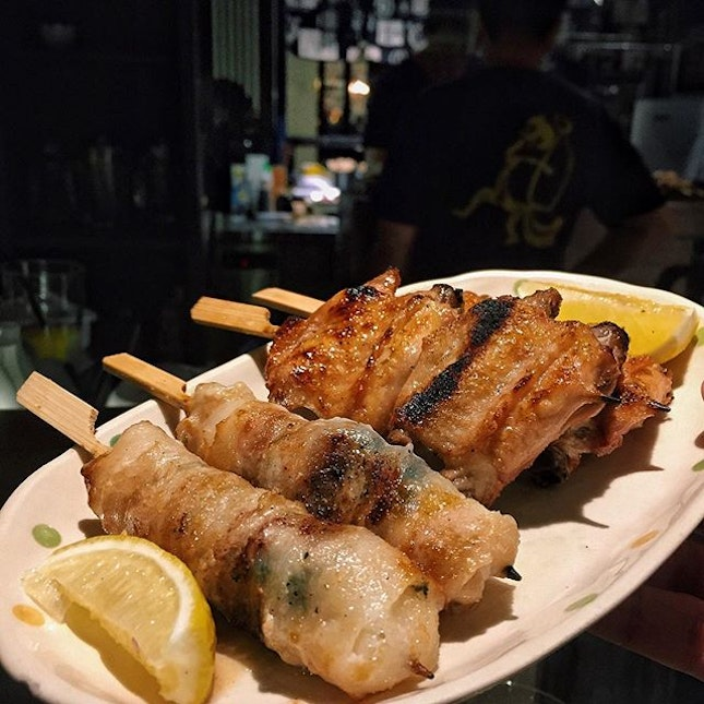For After-Work Sake and Skewers by the River